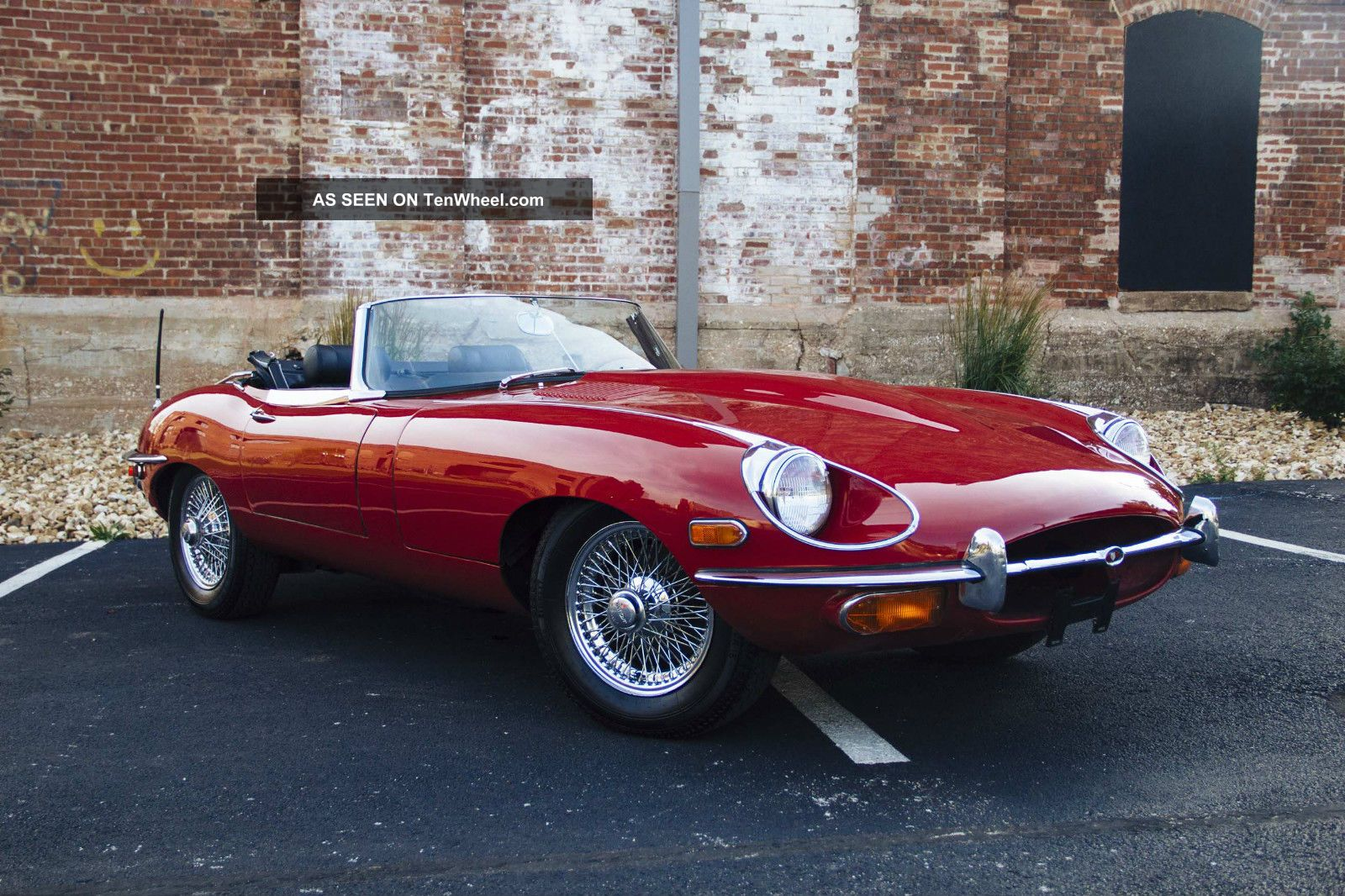 1969 jaguar e type roadster convertible 4 2l red black. Black Bedroom Furniture Sets. Home Design Ideas