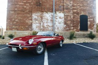 1969 Jaguar E Type Roadster Convertible 4.  2l Red / Black photo