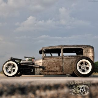 1929 Ford Traditional Hot Rod Rat Chopped Sedan Model A 1930 1931 1932 Scta Drag photo