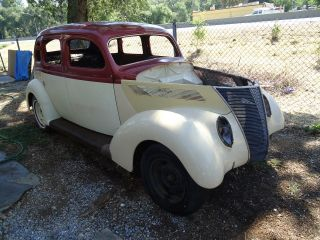 1937 Ford Slant Back 4 Door Hot Rod Project Very California Car photo