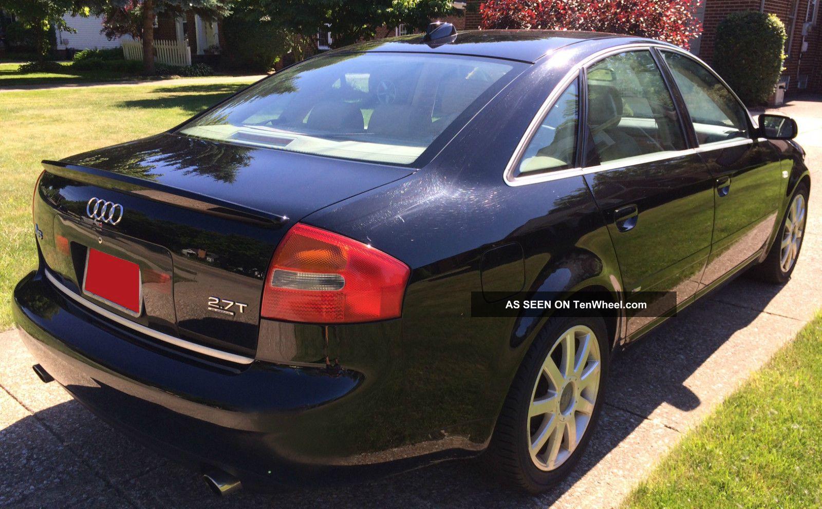 2004 Audi A6 Quattro S - Line 2.  7l V6 Twin Turbo All Wheel Drive Title A6 photo