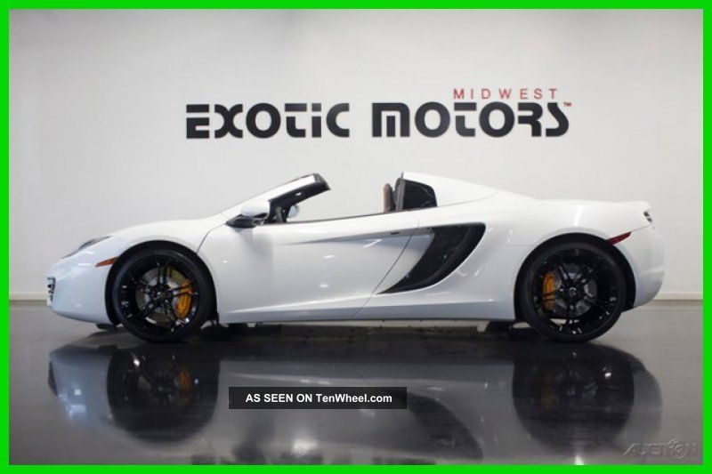2013 Mclaren Mp4 - 12c Spider,  Pearl White,  Msrp$302,  930,  Now$222,  888 Other Makes photo