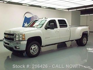 2012 Chevy Silverado 3500hd Ltz Crew 4x4 Diesel Drw 36k Texas Direct Auto photo