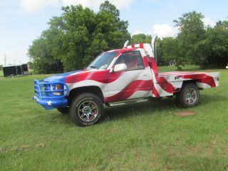 1992 Chevy 2500 Deweze Bed American Flag Truck photo