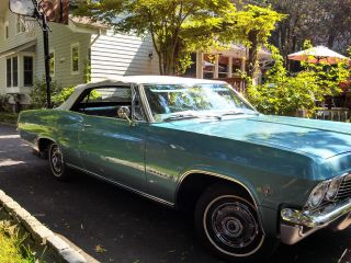 1965 Chevrolet Impala 283 - V8 Convertible Turquoise Blue With White Top photo