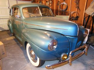 1941 Ford Sedan V8 Flat Head Motor Clear Title 90hp All. photo