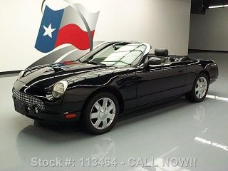 2002 Ford Thunderbird Deluxe Convertible 25k Mi Texas Direct Auto photo