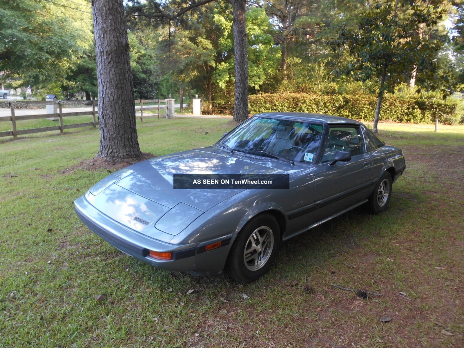 1985,  85 Blue Mazda Rx7gs Sports Car With Great Rotary Engine RX-7 photo