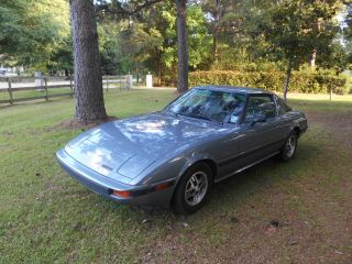 1985,  85 Blue Mazda Rx7gs Sports Car With Great Rotary Engine photo