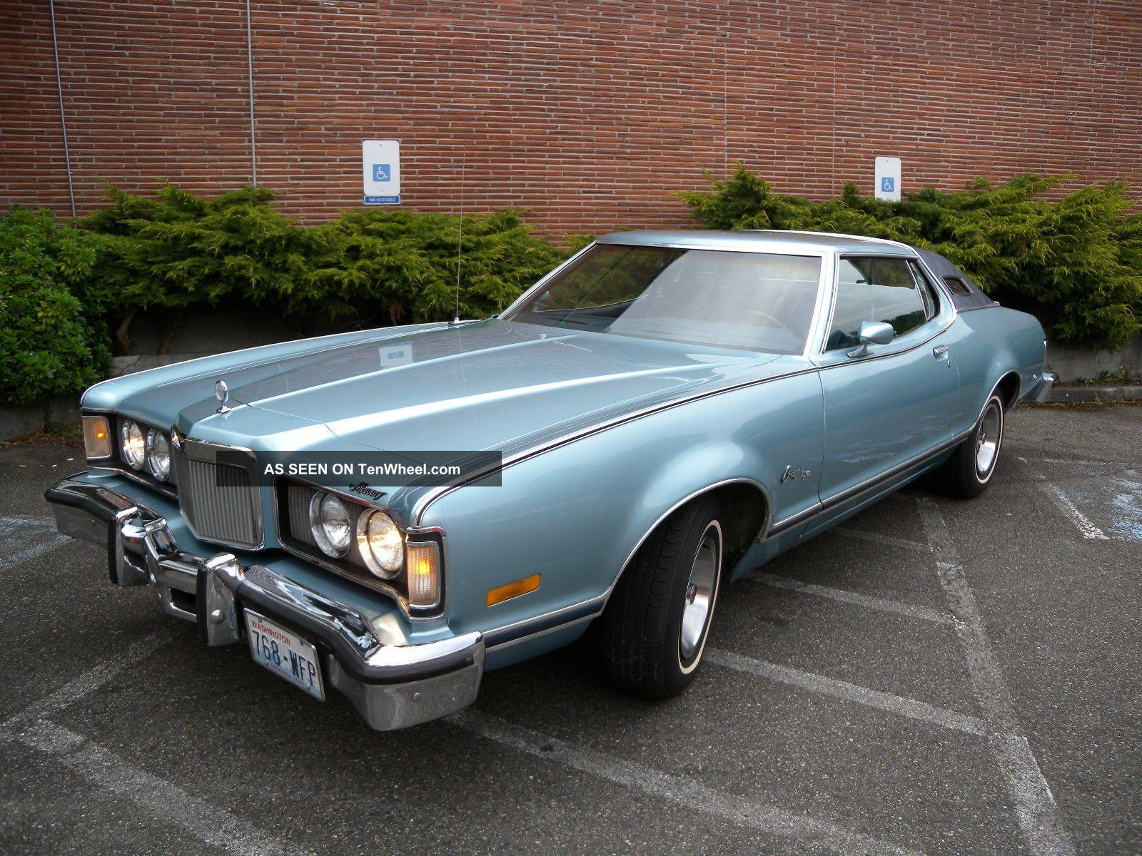 1976 Mercury Cougar Xr7 Blue Landau 2 Door 94,  700 Mi.  All Cougar photo