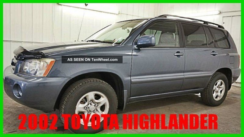 2002 Toyota Highlander V6 Sport Utility 4wd 80+ Photos Wow Highlander photo