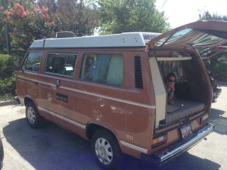 1983 Volkswagen Vanagon Campmobile Van Camper 3 - Door 1.  9l photo