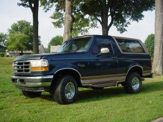 1995 Ford Bronco Eddie Bauer Sport Utility 2 - Door 5.  8l photo