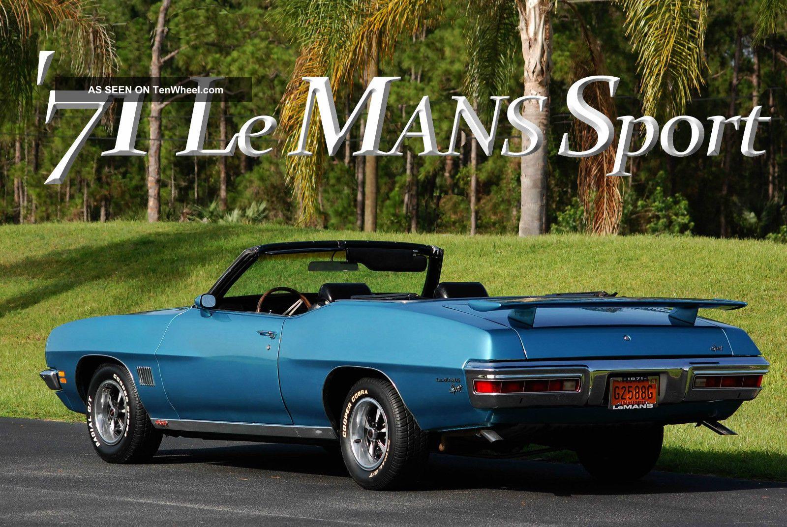 1971 Pontiac Le Mans Sport Convertible Mild Resto Gto Clone Muscle Car Survivor Le Mans photo