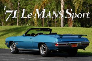 1971 Pontiac Le Mans Sport Convertible Mild Resto Gto Clone Muscle Car Survivor photo
