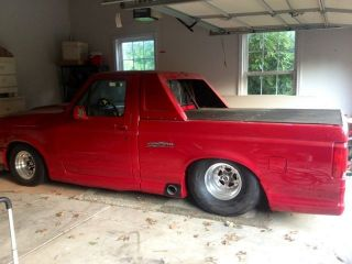 1994 Ford - Lightning Pro Street; Rolling Chassis,  Red With Custom Body Trim photo