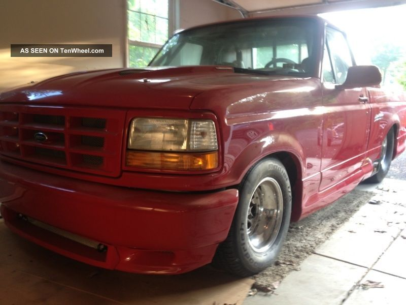 Ford Lightning Pro Street Rolling Chassis Red With Custom Body Trim Lgw on 1994 Ford F 150 Lightning Engine Images