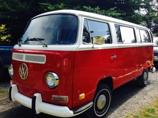 1971 Vw Bus,  Type 2 Transporter,  Seats 9 Cherry Picked,  Rare Find, photo