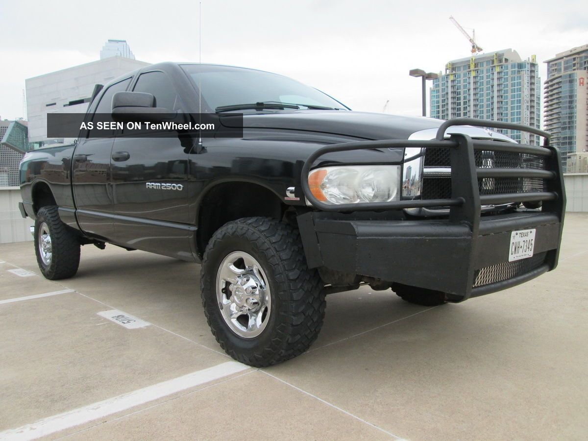 2004 dodge ram 2500 diesel 4x4 slt laramie ranch style bumpers drives excellent. Black Bedroom Furniture Sets. Home Design Ideas