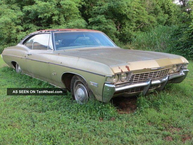 1968 68 Impala 2 Door Hardtop Fastback Barn Find Project