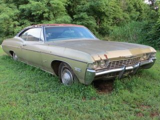 1968 68 Impala 2 Door Hardtop Fastback Barn Find Project 327 A / C Power Brakes photo