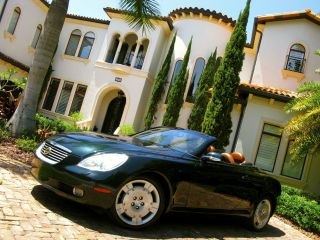 2002 Lexus Sc430 Hard Top Convertible L@@k Florida Navi Alloy Wheels photo