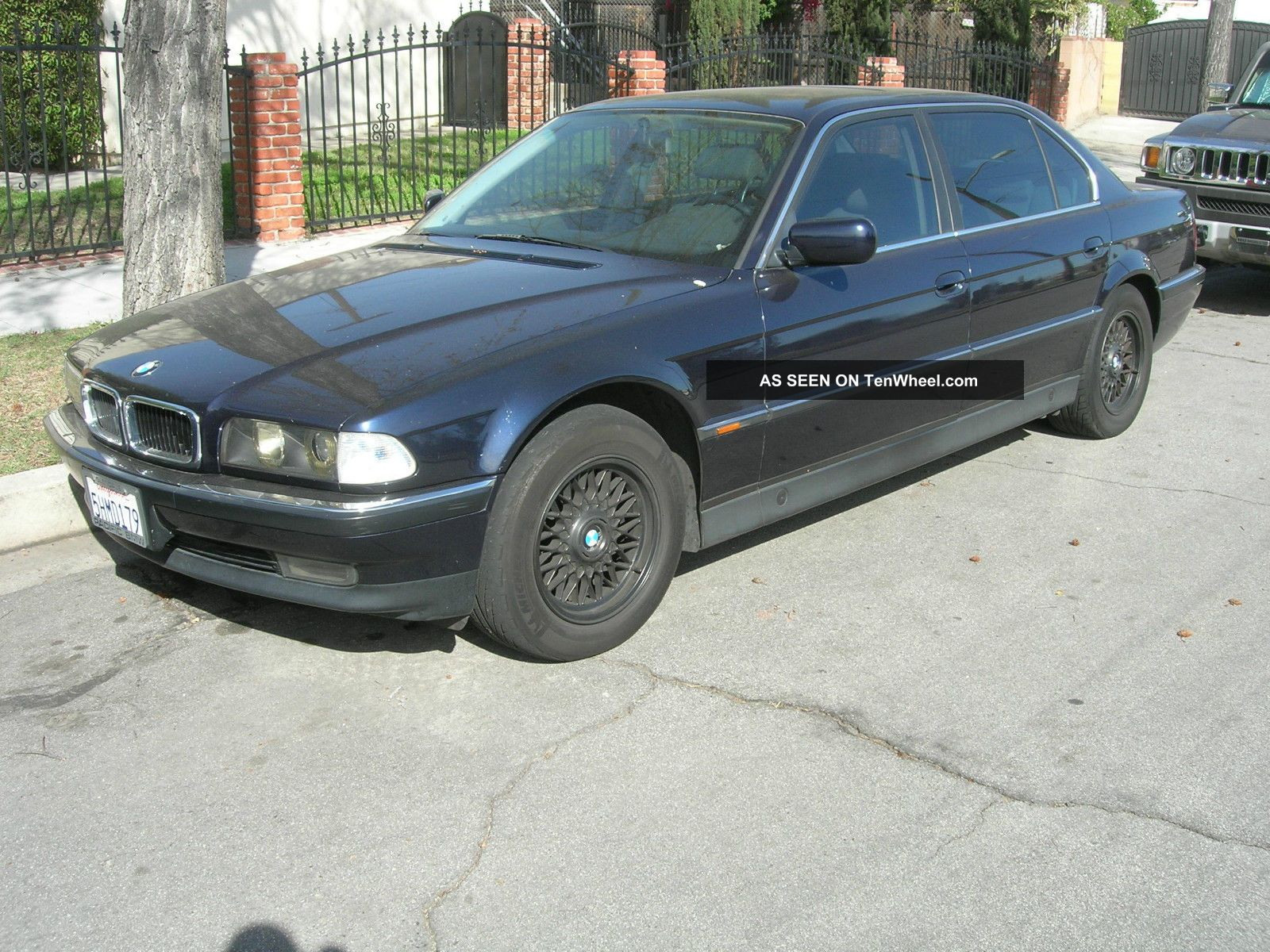 1997 bmw 740il 4 door sedan midnight blue. Black Bedroom Furniture Sets. Home Design Ideas