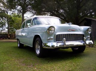 1955 Chevy 2dr Sedan 454 Bbc Turbo 400 Frame Off Street Rod Custom photo