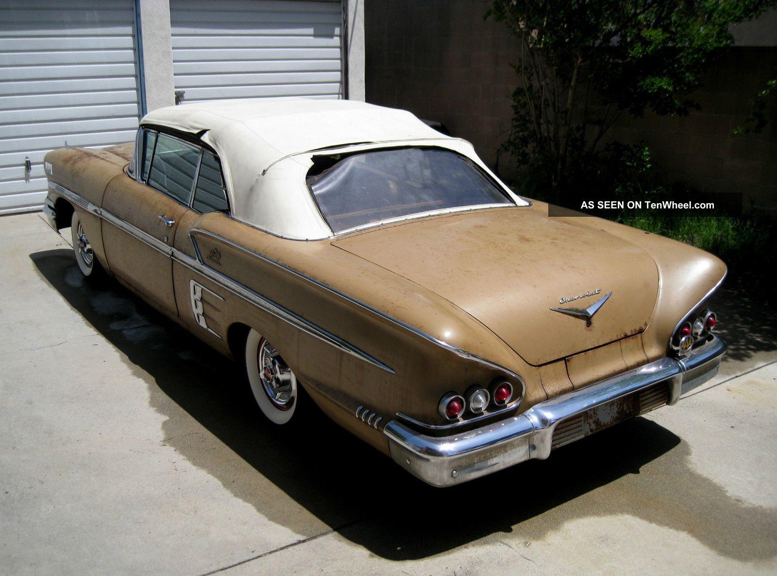 1958 Chevrolet Impala Convertible Barn Find Impala photo