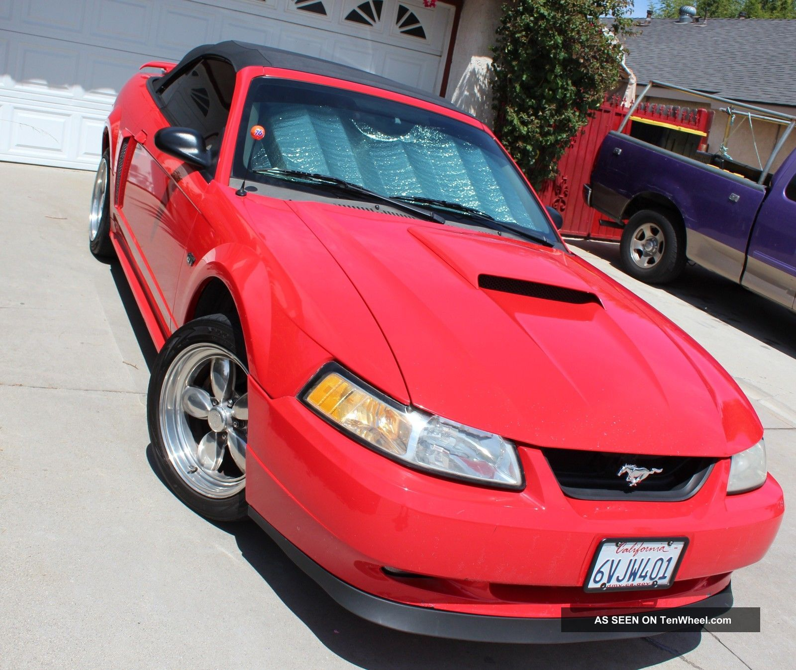 Bmw Convertible Cars: 2001 Ford Mustang Gt Convertible Performance Red