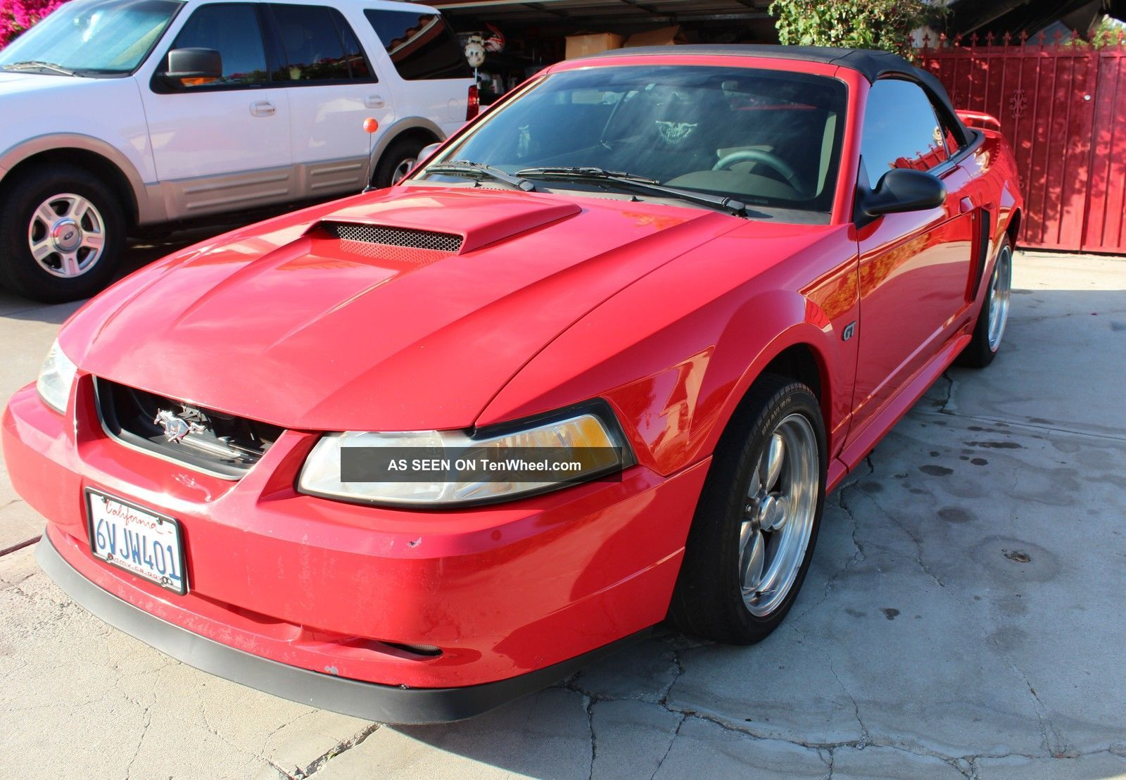 2001 ford mustang gt convertible performance red. Black Bedroom Furniture Sets. Home Design Ideas