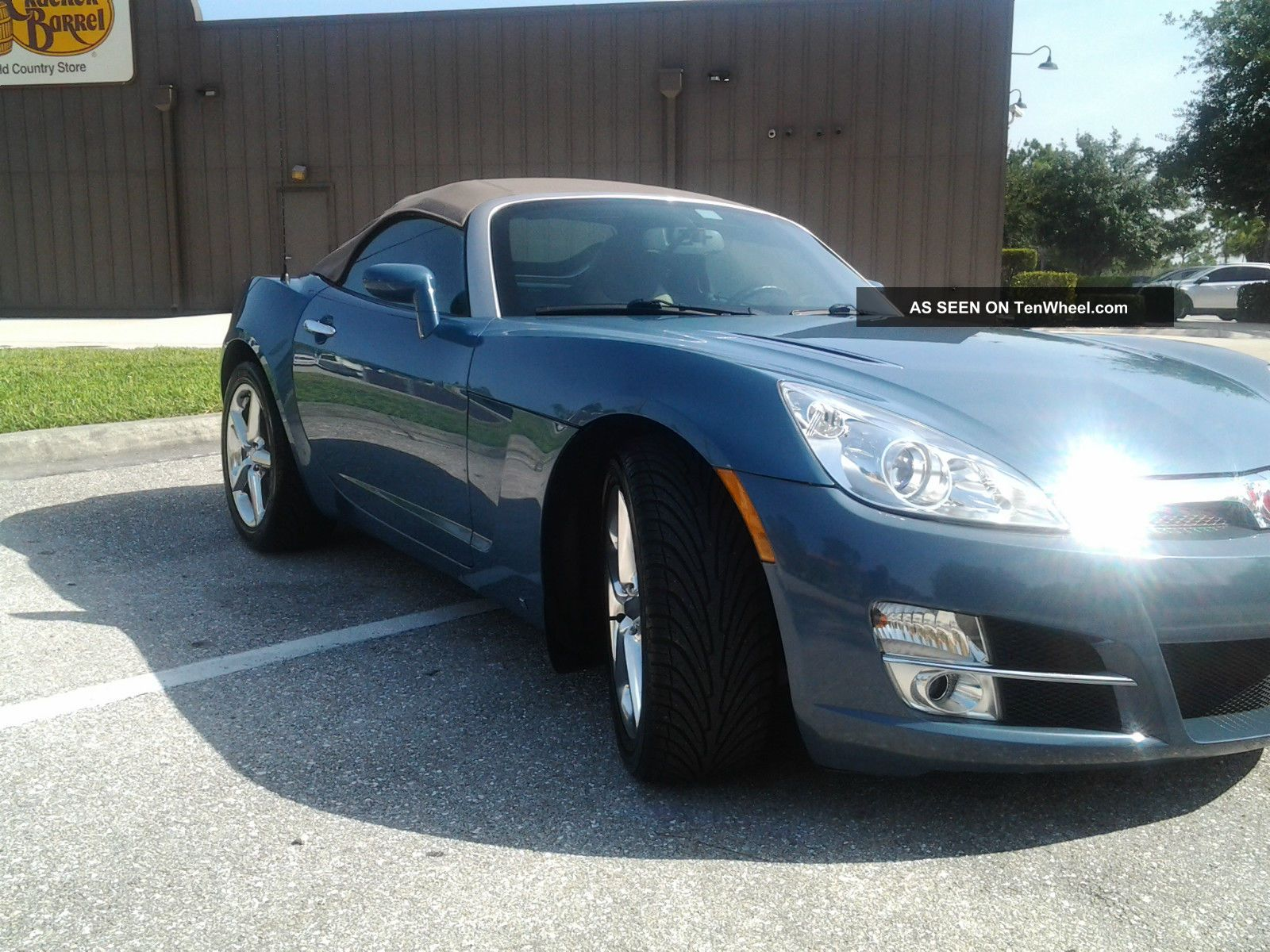 2007 Saturn Sky Rare Bluestone Metallic Convertible 2