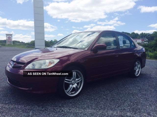 2004 Honda Civic Ex Sedan 4 - Door Manual.  As Traded Civic photo