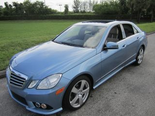 2010 Mercedes - Benz Quartz Blue Metalic E - Class 4dr E350 Sedan photo