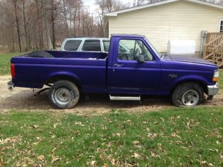 1996 Ford F - 150 Xl Standard Cab Pickup 2 - Door 4.  9l photo