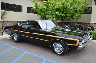 1969 Torino Gt 428 Cobra Jet Ram Air R - Code 4 Speed,  Black Raven photo
