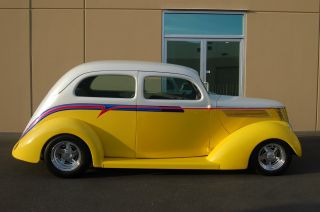 1937 Ford Slantback Sedan Streetrod Xlnt Proven Driver - Loaded photo