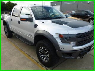 2013 Ford F150 Svt Raptor Crew Cab 4x4 Fr / Rr Camera,  Ford Cpo photo