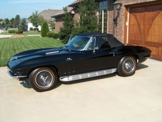1965 Corvette Sting Ray 396 / 425 Big Block Convertible,  Triple Black photo