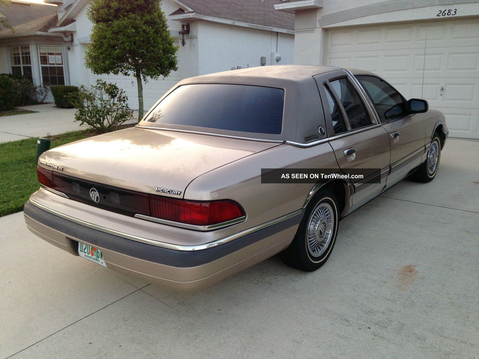 1992 Mercury Grand Marquis Gs Sedan 4
