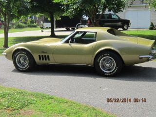 1969 L46 Corvette 4 Speed Gm Well Documented Survivor photo