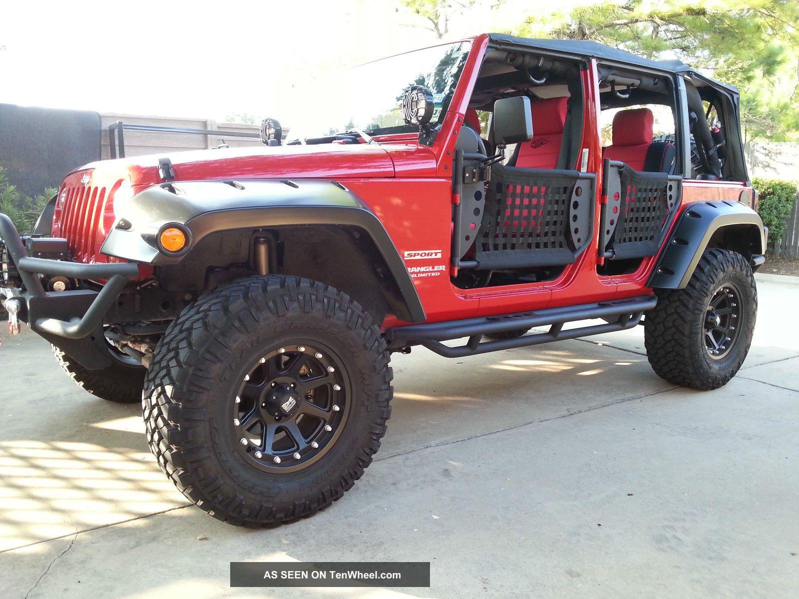 2010 Jeep Wrangler Jk W Big Tires Safari Doors Etc Turn