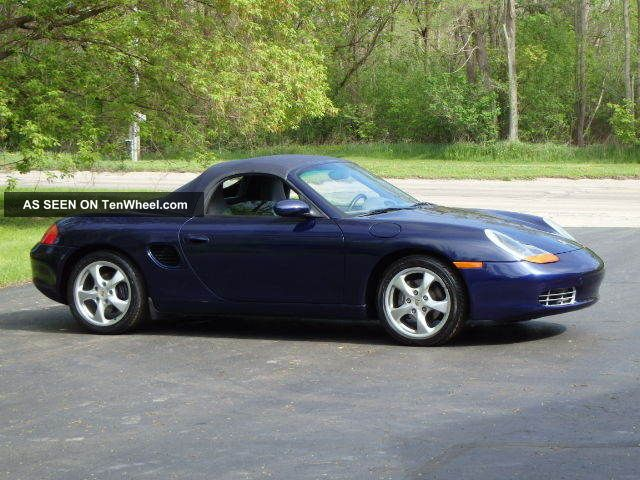 2002 Porsche Boxster 96k Mi Midnight Blue / Gray 5 Speed Boxster photo