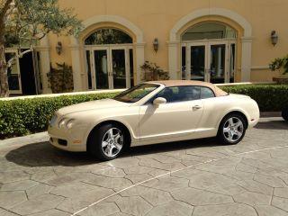2008 Bentley Continental Gtc Convertible 2 - Door 6.  0l Magnolia / Saddle photo