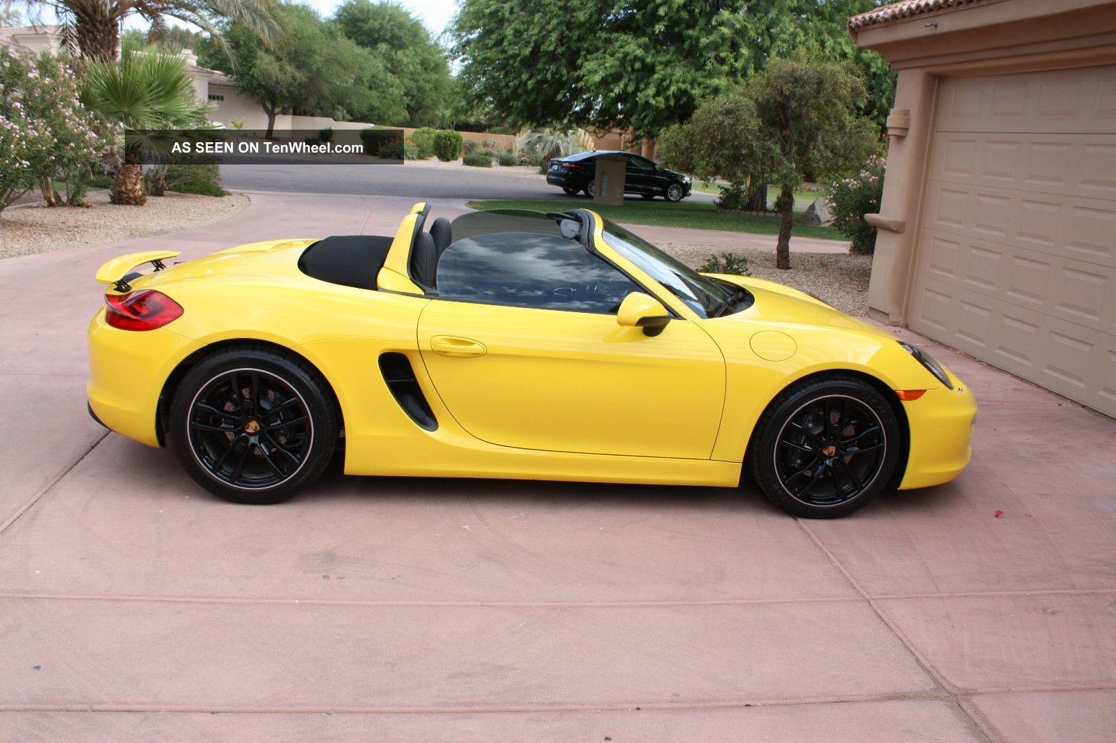 2014 Porsche Boxster Yellow With Black Rims