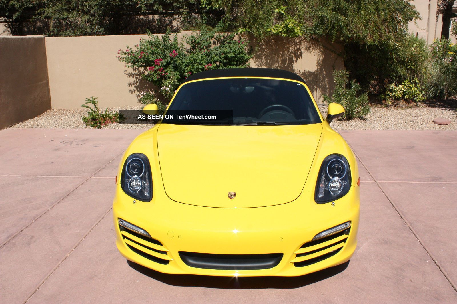 2014 Porsche Boxster Yellow With Black Rims Boxster photo