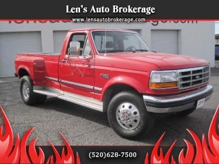 1992 Ford F250 4x4 Reg Cab Dually Rust Heavy Duty Truck photo