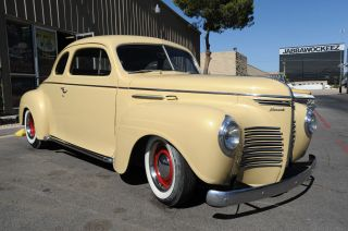 1940 Plymouth Coupe Hot Rod - Ac & Heater - 350 V8 - Interior - Lake Pipes photo