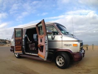 1995 Chevy G20 Glaval Conversion Van.  & Wood Interior. photo