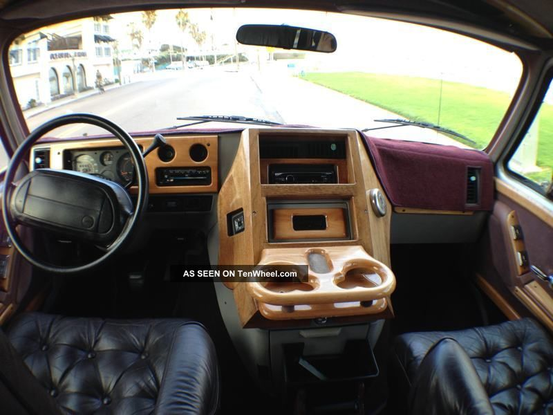 1995 Chevy G20 Glaval Conversion Van Wood Interior